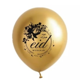 Ballonnen Eid partyzz mix goud zwart (5st)