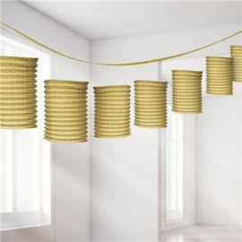 Paper lantern set gold (8pcs)