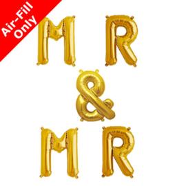 Mr & Mr  foil ballon goud