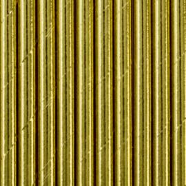 Paper straws shiny gold (10pcs)