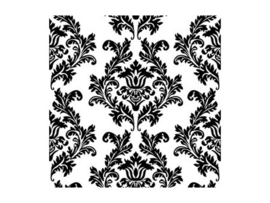 Paper napkins black damask
