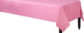 Tablecover plastic hot pink