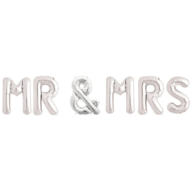 Foil balloon Mr&Mrs silver