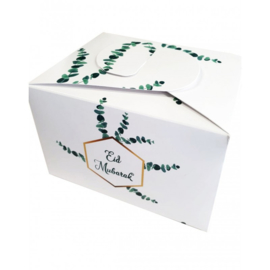 Snack box Eid green leaf