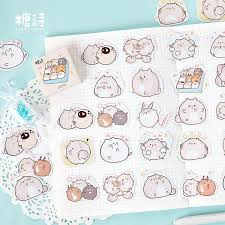 Kawaii stickers hamster (45st)