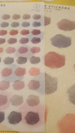 Bujo stickers earth tones