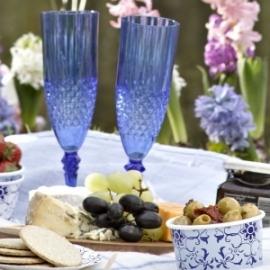 Champagne flute royal blue