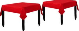 Tafelkleed rood papier (set van 2)