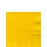 Servetjes geel klein  (20st)