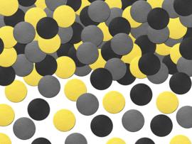Confetti geel zwart mix