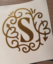 Vinyl decal monogram