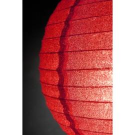 Lampion  rood glitter 25 cm