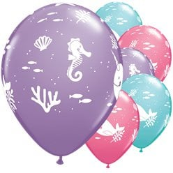 Mermaid balloons (6pcs)