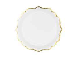 Paper plates white deluxe (6pcs)
