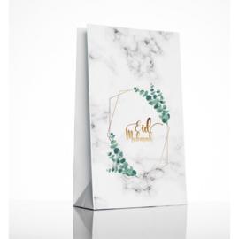 Eid paper gift bags green leaf (6psc)