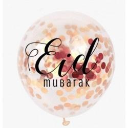 Eid confetti ballonnen rose goud (5st)