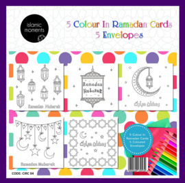 Coloring cards Ramadan (5pcs)