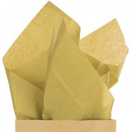 Tissue paper gold (set of 5 sheets)