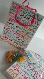 Eid font large gift bag