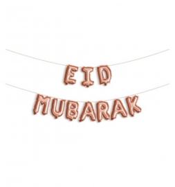 Folie letter ballon Eid Mubarak rose goud