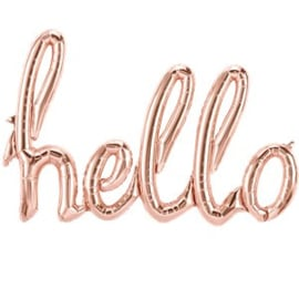 Phrase balloon HELLO rose gold