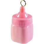 Balloon weight baby bottle pink