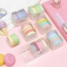 Washi tape pinkish pastel (5pcs)