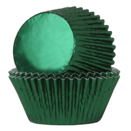 Cupcake cases groen  folie (24st)