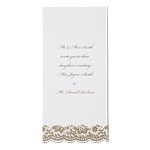 Blank invitation cards gold