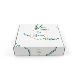 Cake box Eid green leaf