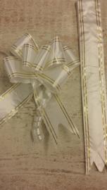 XL trekstrik wit goud (5st)