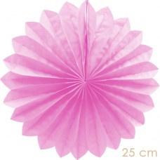 Papieren waaier roze (25cm)