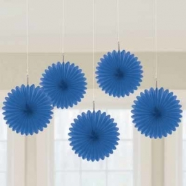 Mini hanging fans royal blue