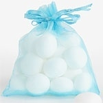 Organza pouch light blue