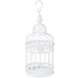 Table deco gold birdcage
