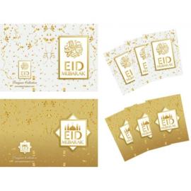 Greeting card Eid white/gold