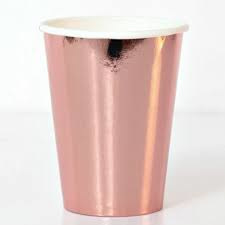 Paper cups rose gold (8pcs)