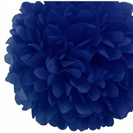 Pompom donker blauw 35cm