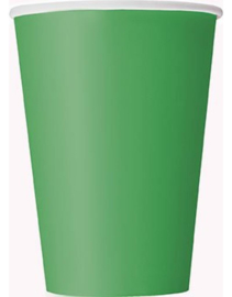 Paper cups green large (8pcs)