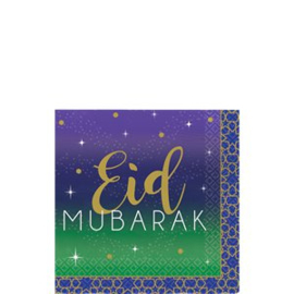 Eid paper napkins blue gold(16pcs)