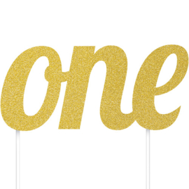 Cake topper ONE gold