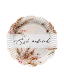Paper plates Eid natural boho (6pcs)