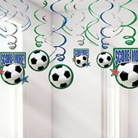 Football hanging swirls