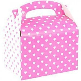 Party box roze wit hartjes