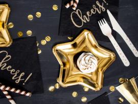 Paper plates gold glam stars (6pcs)