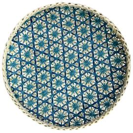 Bamboe mand blauw