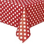 Tablecover apple red polka dots