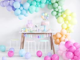 Ballonnen mat mint groen pastel (10st)