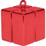 Balloon weight giftbox rood
