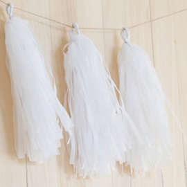 DIY Tassels white (5pcs)
